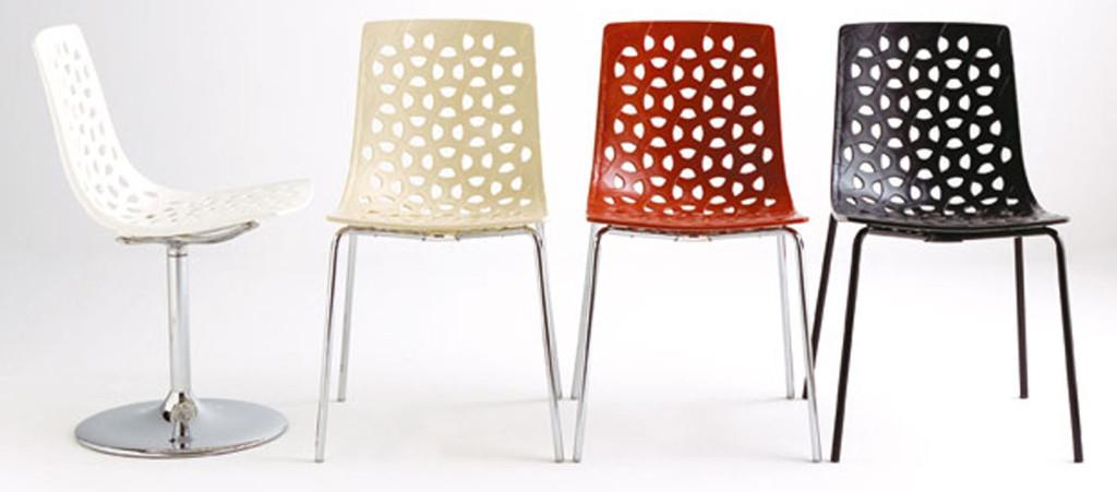 chaises de cuisine moderne et confortable