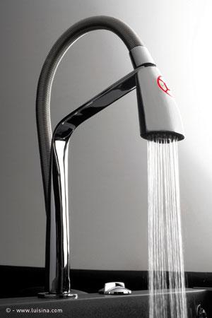 Le mitigeur high tech de luisina inspiration cuisine - Tete de robinet castorama ...