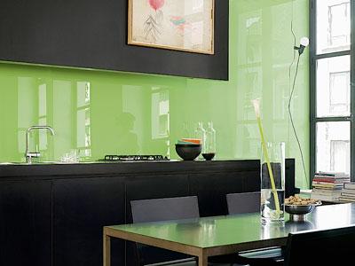 Le verre dans la cuisine inspiration cuisine le for Plan de travail cuisine en verre