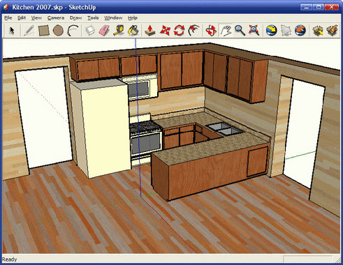 blog sur l 39 univers de la maison et du bricolage r aliser un plan en 3d avec google sketchup. Black Bedroom Furniture Sets. Home Design Ideas