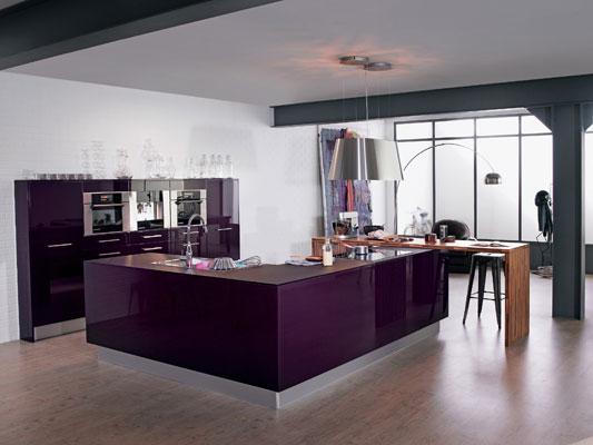 Mettez de la couleur dans votre cuisine l 39 offre des for Cuisine equipee violet