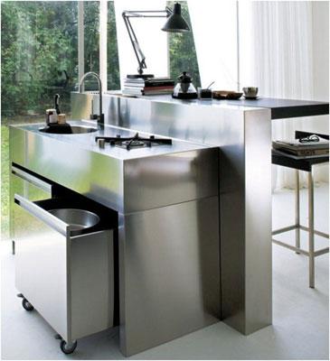 l 39 inox un mat riau pas si fragile inspiration cuisine le magazine de la cuisine quip e. Black Bedroom Furniture Sets. Home Design Ideas