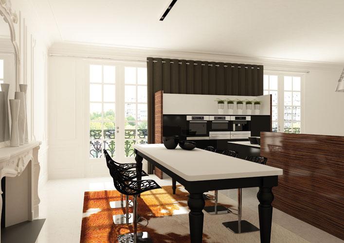 La cuisine ouverte le nouveau salon inspiration for Exemple cuisine ouverte sejour