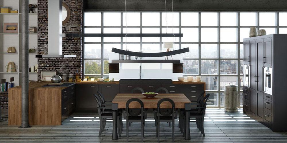 Tendances cuisines la mode fran aise inspiration cuisine le magazine de la cuisine quip e - Cuisine style industriel loft ...
