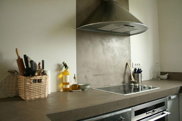le béton ciré ou l'esprit loft | inspiration cuisine | le magazine ... - Prix Beton Cire Plan De Travail Cuisine