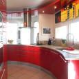 Une cuisine rouge pleine de pep