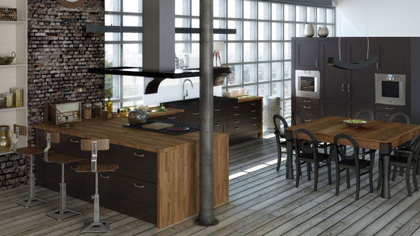 la cuisine loft de jean louis morel inspiration cuisine le magazine de la cuisine quip e. Black Bedroom Furniture Sets. Home Design Ideas