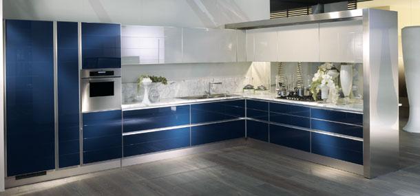 Eurocucina 2010 toute l 39 l gance des cuisines en verre for Cuisine equipee bleu