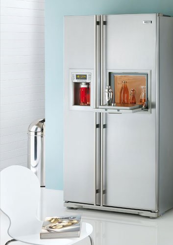 frigo americain mini bar table de cuisine