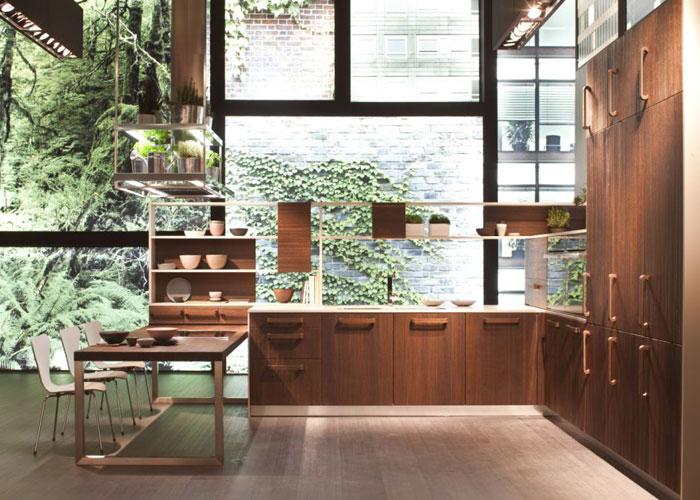 E-Wood de Snaidero, le bois dans la cuisine, cuisine aménagée, cuisine équipée, cuisine italienne