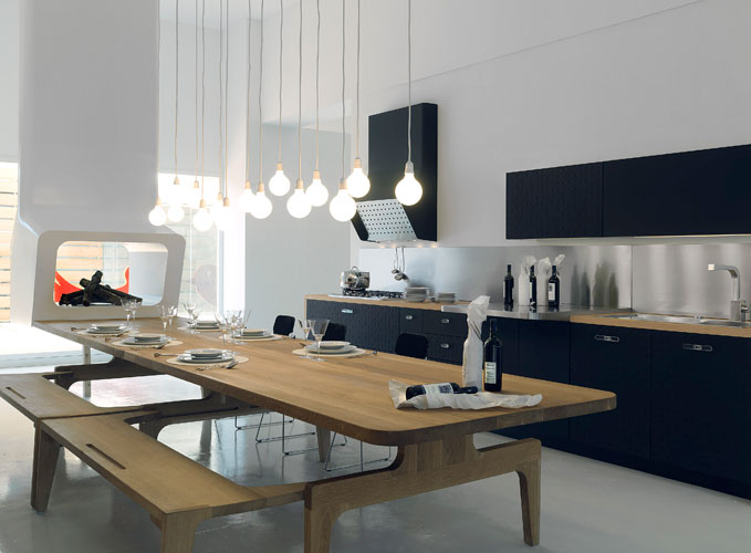 Mesa de schiffini inspiration cuisine le magazine de la cuisine quip e - Grande table de cuisine ...