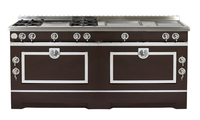 Piano de cuisson la cornue occasion - Gaziniere double four ...