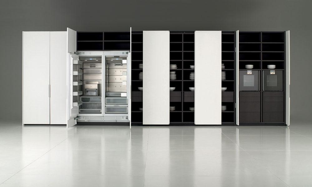 Des cuisines haut de gamme tr s discr tes inspiration - Systeme de rangement placard ...