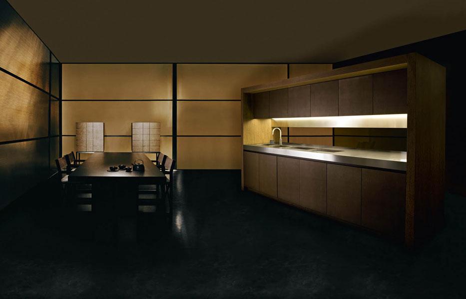 Bridge d'Armani/Dada, cuisine discrète, cuisine haut de gamme, cuisine design, cuisine aménagée, cuisine épurée
