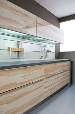 Modèle Arcos brillant de Schmidt, cuisine aménagée, cuisine équipée