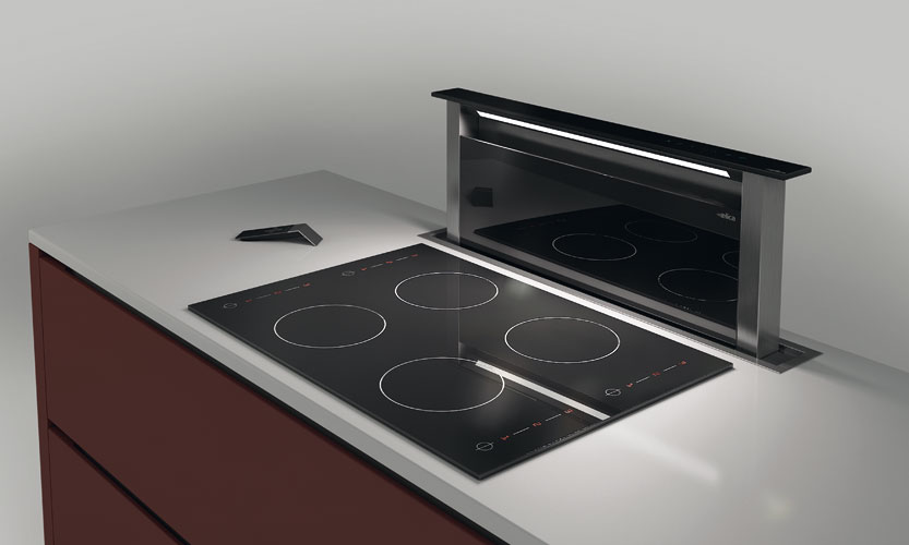 Hotte design inspiration cuisine for Ventilation hotte cuisine