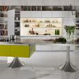 Les cuisines haut de gamme font bibliothèques