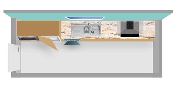 nos conseils pour les petites cuisines inspiration cuisine le magazine de la cuisine quip e. Black Bedroom Furniture Sets. Home Design Ideas