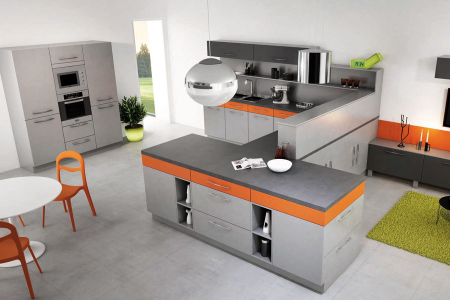 Des cuisines aux rangements astucieux inspiration cuisine for Cuisine en u cuisinella