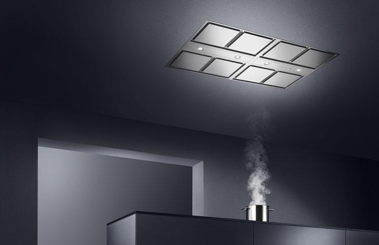 La hotte de plafond modulaire de gaggenau inspiration for Hotte de cuisine plafond
