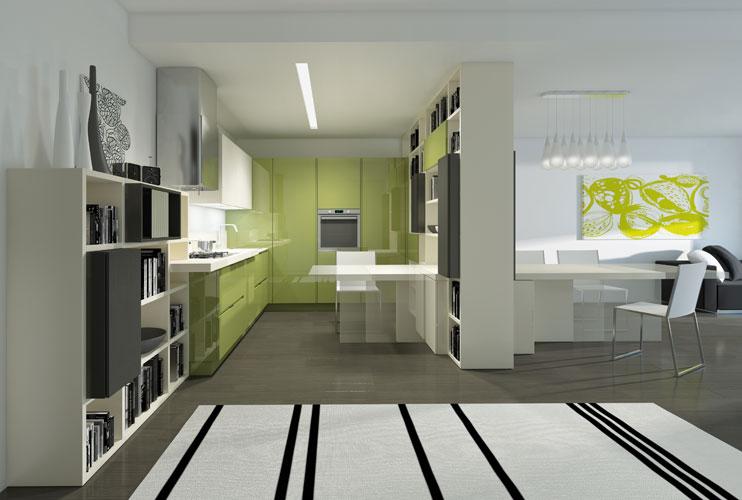 Separation de cuisine en verre gallery of with separation - Separation en verre cuisine salon ...