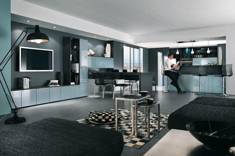 Inspiration Chambre Bleu Gris : Cuisine aménagée  les nouveautés 2011 de Mobalpa  Inspiration