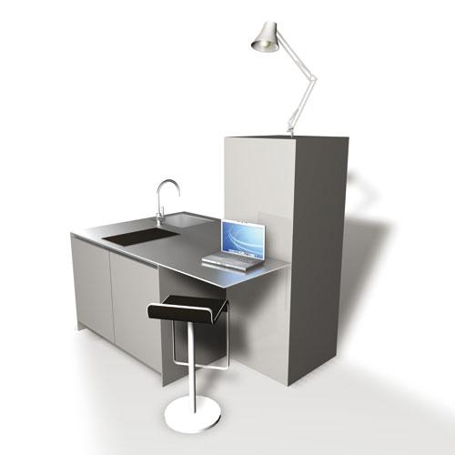 Une cuisine compacte pour les petits espaces inspiration for Cuisine petit espace design
