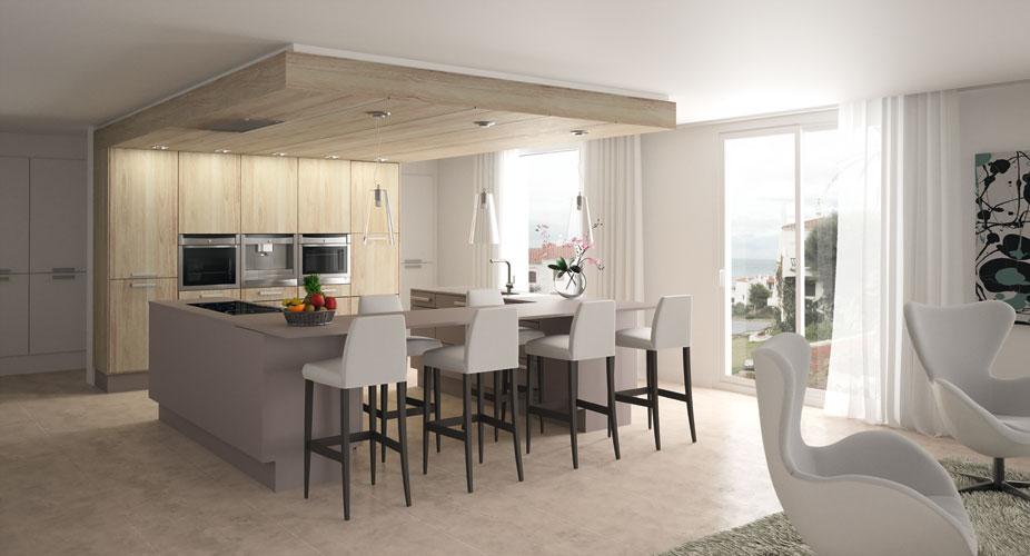 une cuisine aux nouvelles dimensions inspiration cuisine. Black Bedroom Furniture Sets. Home Design Ideas