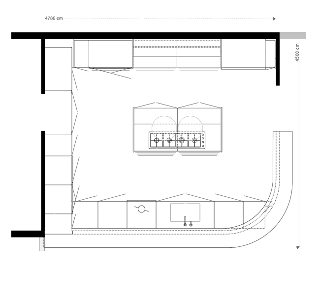 Plan pour cuisine amenagee maison design for Plan cuisine amenagee