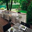 La cuisine dans le jardin