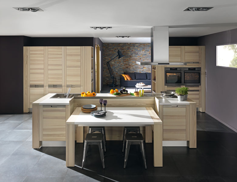 les cuisines en bois la tradition au go t du jour. Black Bedroom Furniture Sets. Home Design Ideas