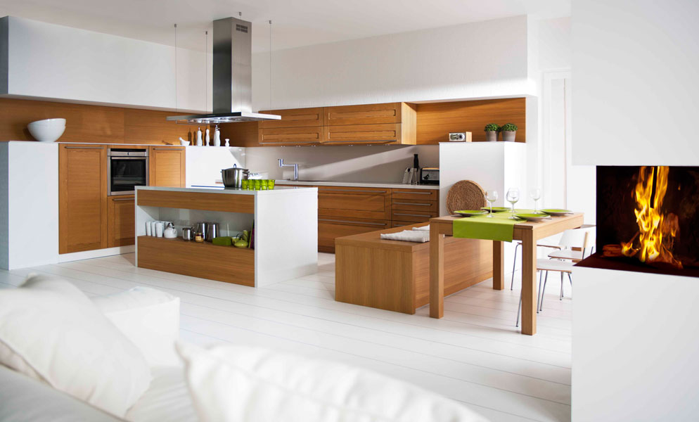 les cuisines en bois la tradition au go t du jour inspiration cuisine. Black Bedroom Furniture Sets. Home Design Ideas