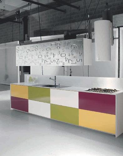 Modèle Rodi de Gruppo Del Tongo-cuisine de couleur