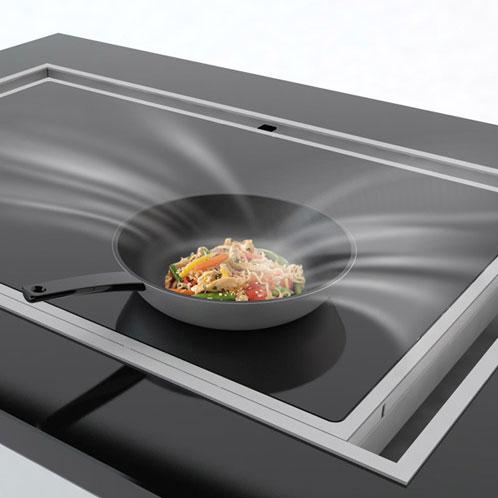 la hotte sous la plaque de cuisson inspiration cuisine. Black Bedroom Furniture Sets. Home Design Ideas