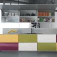 Une cuisine de toutes les couleurs
