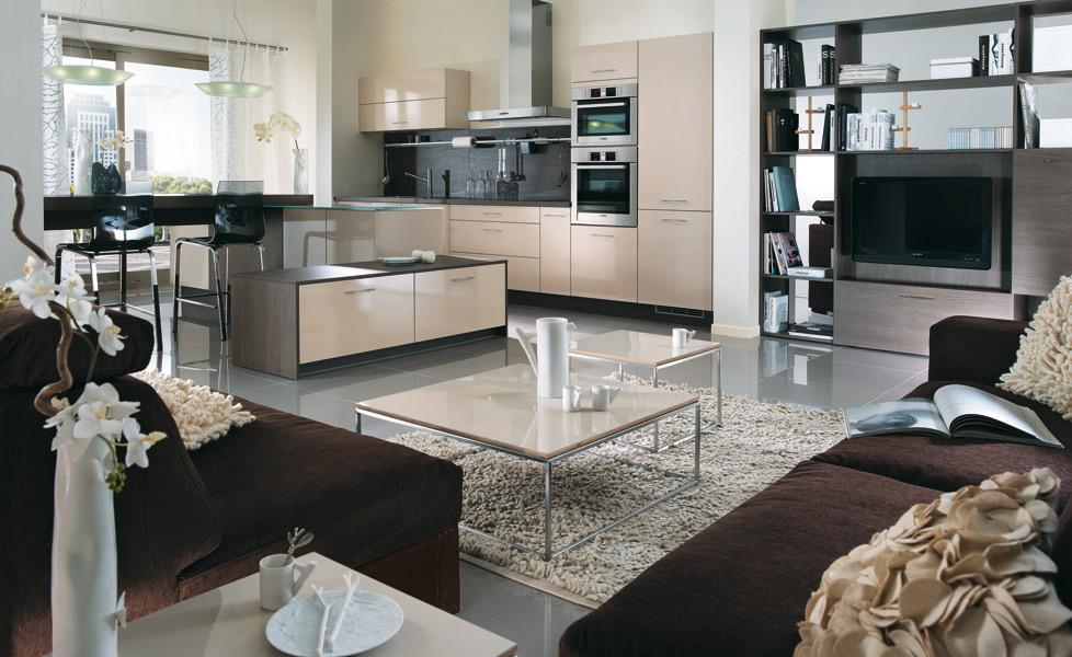 La cuisine marron inspiration cuisine for Couleur magnolia cuisine