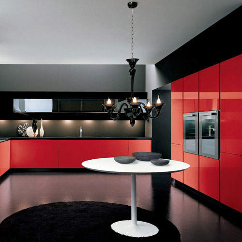 cuisine rouge inspiration cuisine. Black Bedroom Furniture Sets. Home Design Ideas