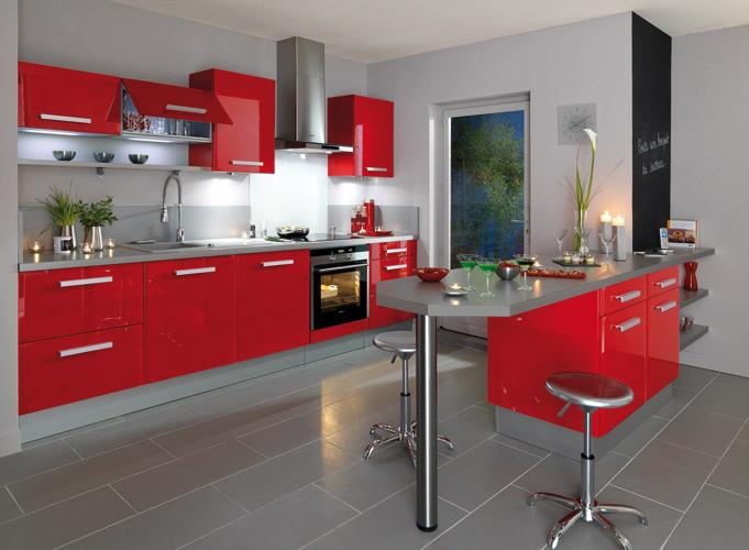La cuisine rouge inspiration cuisine for Les modeles de cuisine