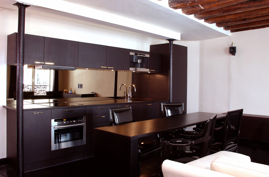 la cuisine marron inspiration cuisine. Black Bedroom Furniture Sets. Home Design Ideas