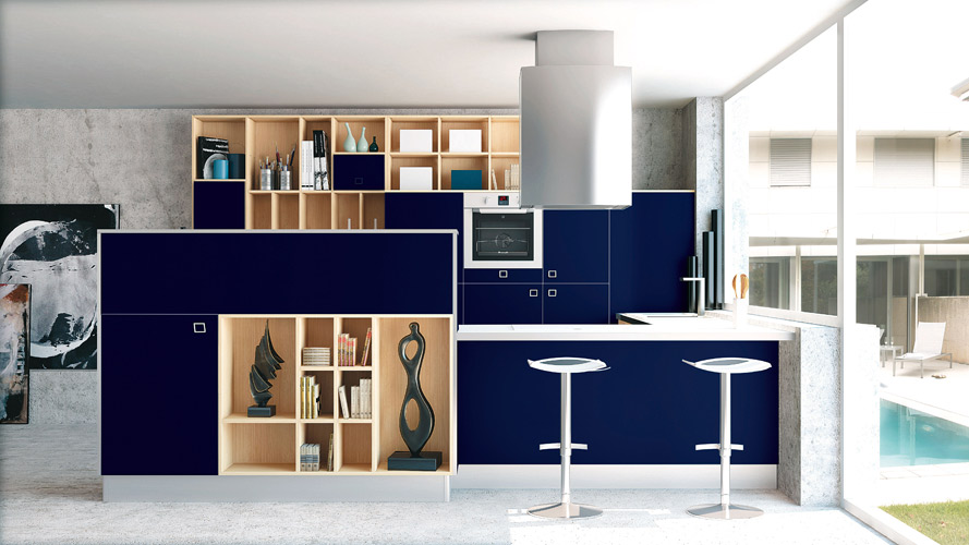 cuisine bleu marine divers besoins de cuisine. Black Bedroom Furniture Sets. Home Design Ideas