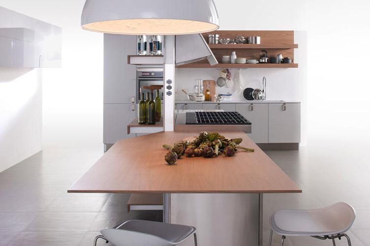 Un coin repas int gr la cuisine comme un ilot central for Cuisine integre