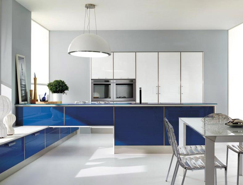 Les nouvelles cuisines bleues 2012 inspiration cuisine for Facade cuisine aluminium