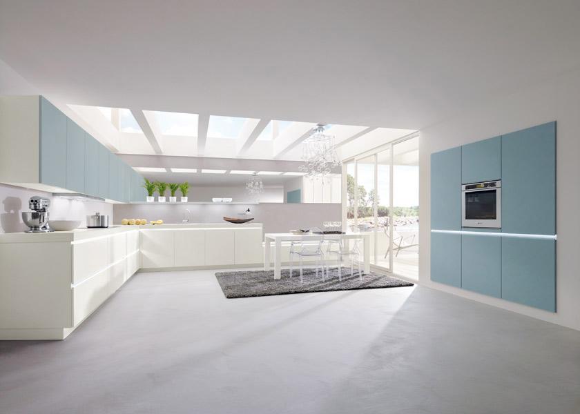 Les nouvelles cuisines bleues 2012 inspiration cuisine - Cuisine blanche et bleue ...
