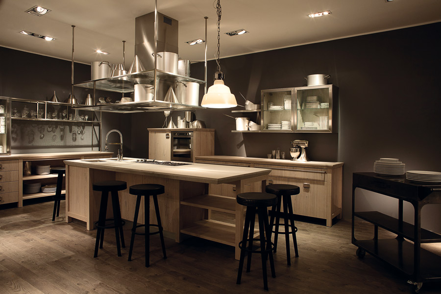 scavolini signe avec diesel une cuisine vintage. Black Bedroom Furniture Sets. Home Design Ideas