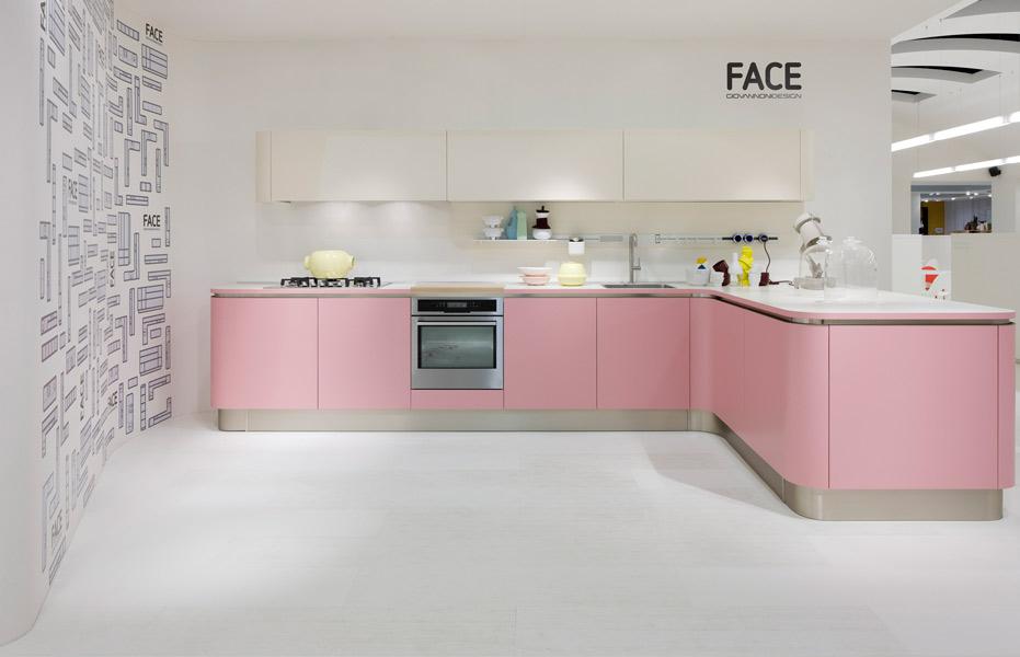 La cuisine rose pastel de veneta cucine inspiration cuisine for Peinture rose cuisine