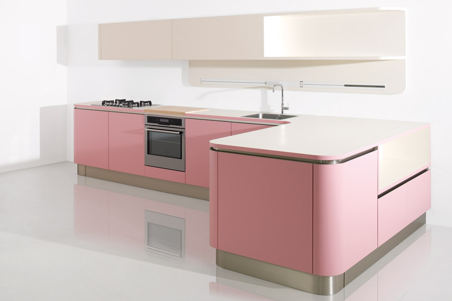 Perfect cuisine face de veneta cucine with cuisine couleur pastel for Cuisine en rose