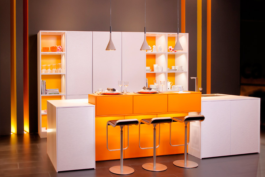 La cuisine orange de leicht esprit vintage inspiration for Cuisine orange