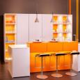 La cuisine orange de Leicht : esprit vintage