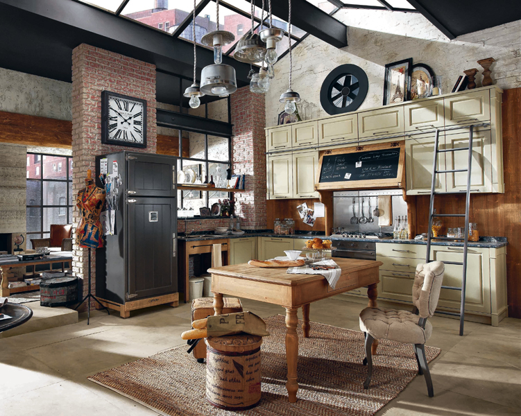 La cuisine de style brocante de marchi inspiration cuisine - Photos de loft amenager idees ...