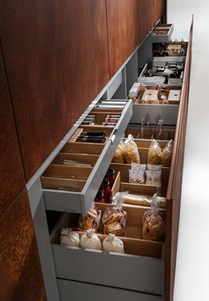 Chambre A Coucher La Couleur :  Cuisine Linea Quattro  Les cuisines se cachent inspiration cuisine